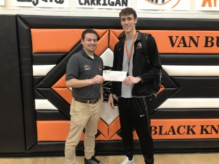 Pollyeyes Player of the Game, 2-16-18, North Baltimore and Van Buren - Kade Steveson of Van Buren